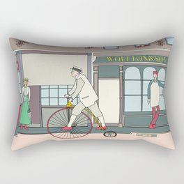 Steampunk Penny-Farthing Velocipedes Rectangular Pillow