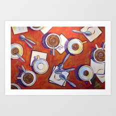 The Get Together ... Kitchen Coffee Cup Art Art Print