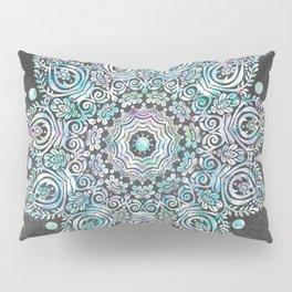 Mermaid Mandala on Deep Gray Pillow Sham
