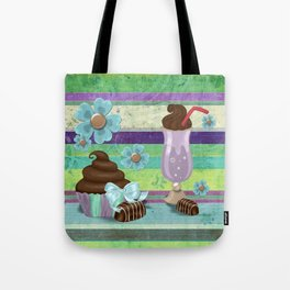 Sweetness Bakery Goods Mixed Media Tote Bag