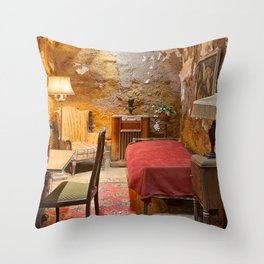 Al Capone's Luxurious Prison Cell Throw Pillow