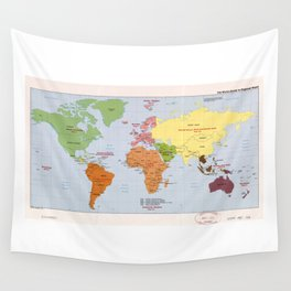 World Political Regional Map (1985) Wall Tapestry