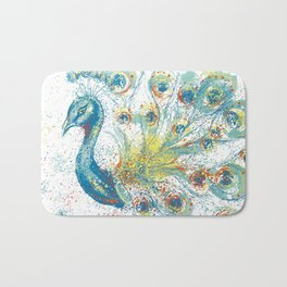 Show Your Peacock Feathers Bath Mat