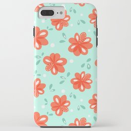Cheerful Red Flowers Pattern iPhone Case