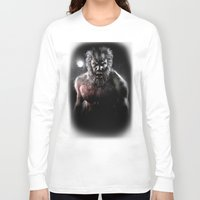 werewolf Long Sleeve T-shirts featuring Werewolf by Joe Roberts