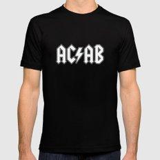 ACAB # BLACK & WHITE Mens Fitted Tee Black MEDIUM