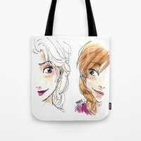 sisters Tote Bags featuring SISTERS. by Maryne.