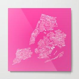 NYC Every-Neighborhood Map Metal Print