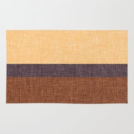 Simple Stripe Abstract with Burlap Pattern Rug