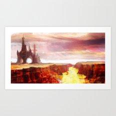 Desert Temple Art Print