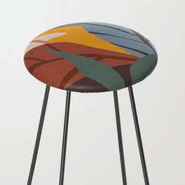 Abstract Art Jungle Counter Stool
