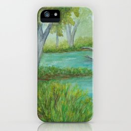 Little Manistee River MM120824a iPhone Case