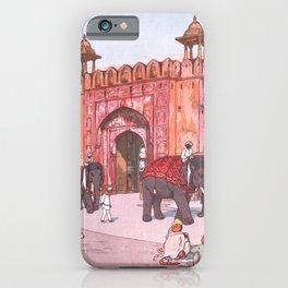 Ajmer Gate, Jaipur by Yoshida Hiroshi - Japanese Vintage Ukiyo-e Woodblock Painting iPhone Case