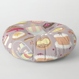 Patisserie Cakes and Good Things Floor Pillow