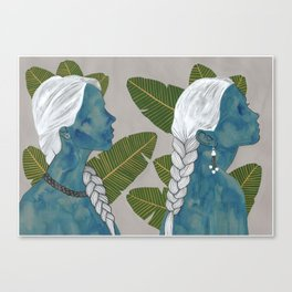banana leaves Canvas Print