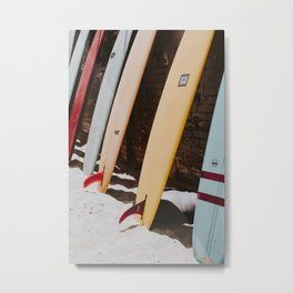 lets surf xxii / malibu beach, california Metal Print