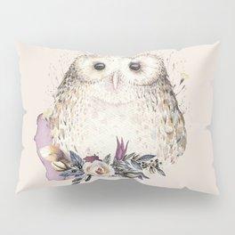 Boho Illustration- Be Wise Little Owl Pillow Sham