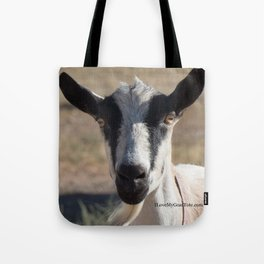 Black and White Goat on a tote Tote Bag
