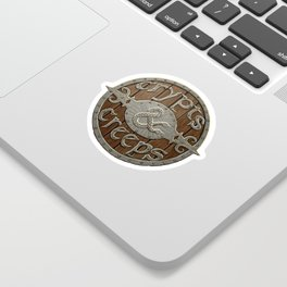 Crypts And Creeps Logo Sticker