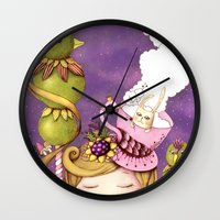 neverland Wall Clocks featuring Neverland by Eunice Ng