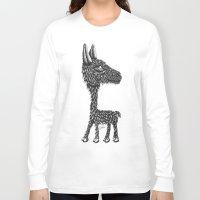 llama Long Sleeve T-shirts featuring Llama by Jamie Killen