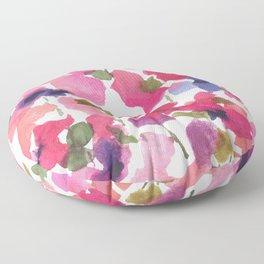 Monet's Rose Garden Floor Pillow