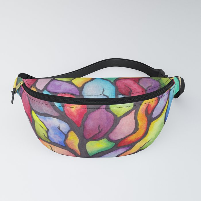 Watercolor Mosaic Tree Fanny Pack