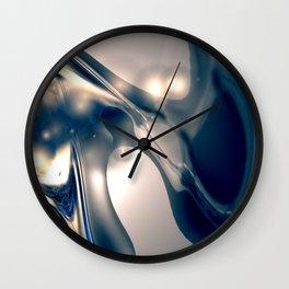 Metal Silverleaf Wall Clock