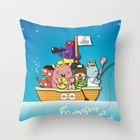 friendship Throw Pillows featuring Friendship by Gunawan Lo