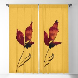 Floral Abstract No.2s by Kathy Morton Stanion Blackout Curtain