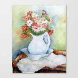 Vaso com flores I (Vase with flowers I) Canvas Print