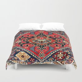 Qashqa'i Antique Fars Persian Bag Face Print Duvet Cover