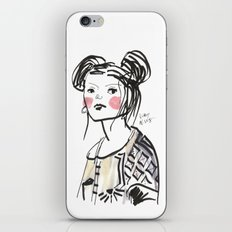 Gwen - Hipster Girl in Marker and Gouache iPhone & iPod Skin