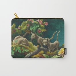 Classical Masterpiece 'Cats - The Brothers' by Thomas Hart Benton Carry-All Pouch