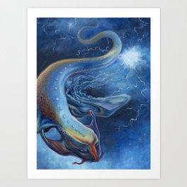 Lightning Dragon Art Print