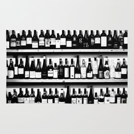 Wine Bottles in Black And White #society6 #decor Rug