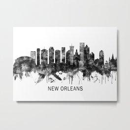New Orleans Louisiana Skyline BW Metal Print