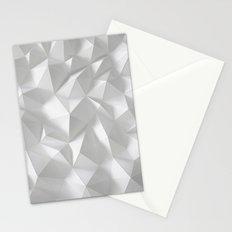 White polygonal landscape Stationery Cards