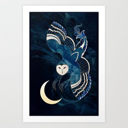 Ancient Shadow Passes over an Ageless Moon Art Print