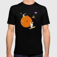Space Fun Black Mens Fitted Tee MEDIUM