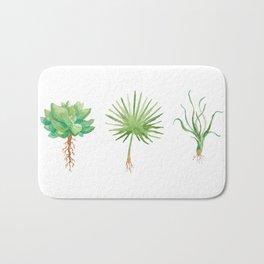 Plant Trio Watercolor Bath Mat