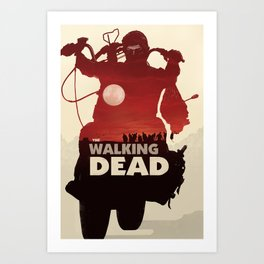 Daryl Dixon - Red Art Print