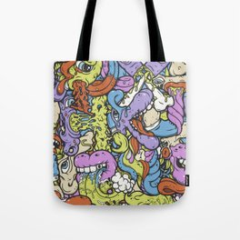 Alphabetcha Collage Tote Bag