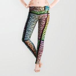 Pastel Rainbow Chrome Tiles Leggings