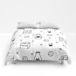 Doodle milk star cookies pattern Comforters