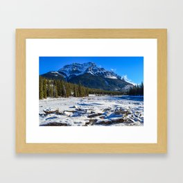 Mount Kerkeslin in Jasper National Park, Alberta Framed Art Print