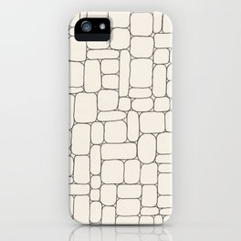 Stone Wall Drawing #3 iPhone Case