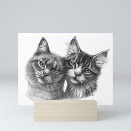 Cats in Love G134 Mini Art Print