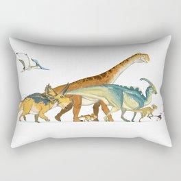 Dinosaur Parade Rectangular Pillow