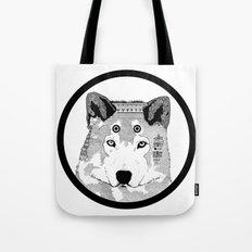 Hippie Wolf Tote Bag